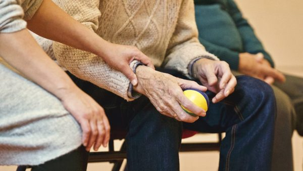 care giver at memory care facility